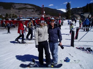 Emily and me riding at Keystone